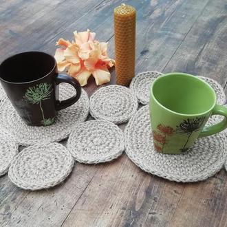Сервировочный коврик-салфетка из джута