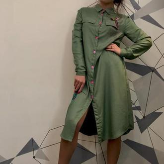 Платье с колибри