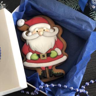 Новогодний имбирный пряник «Санта»