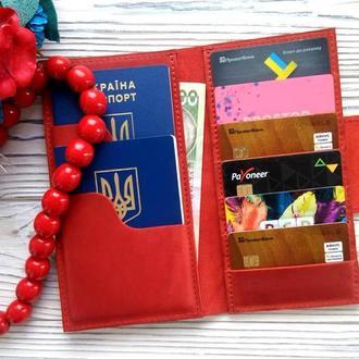 Красный органайзер для документов, подарки для мамы от Kozhemyaka