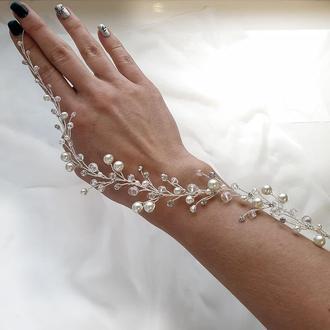Свадебное украшение для волос, веточка  в прическу, украшение в прическу, ободок