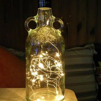 Диодный светильник из бутылки