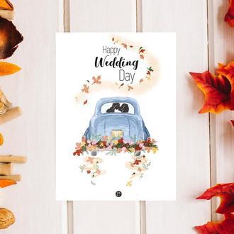 Листівка «Happy Wedding Day»