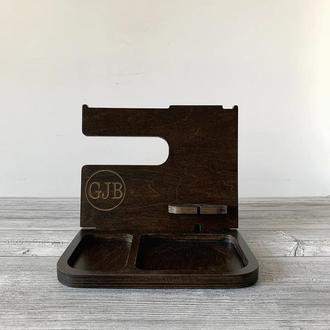 Настольный мужской органайзер, Подставка для телефона