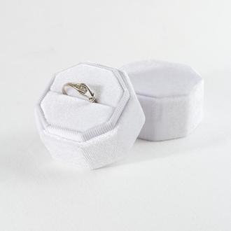 Бархатная коробочка для кольца (цвет Bright White)