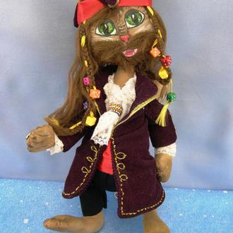 Интерьерная кукла. Кот пират