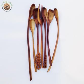 Подарочный набор деревянных ложек из сливы