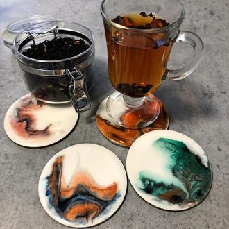 Набор подставок для чашки (4 штуки)
