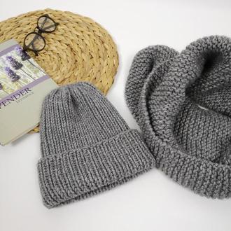 Женская шапка с отворотом