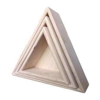 """Набор декоративных полочек """"Треугольники"""", 10 см"""