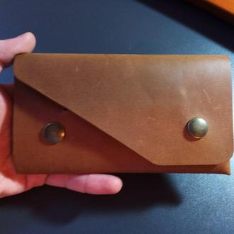 Винтажный кошелек CrazyHorse с бесшовным дизайном