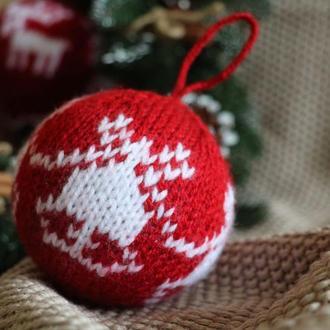 Ёлочные украшения, вязаные новогодние шары