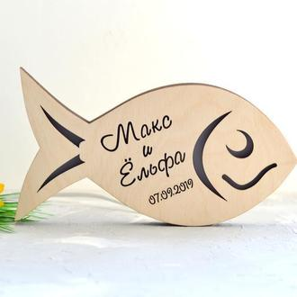 Светильник в форме рыбки