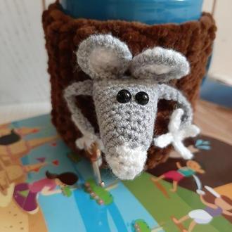 Грелка плюшевая  на чашку Мышка