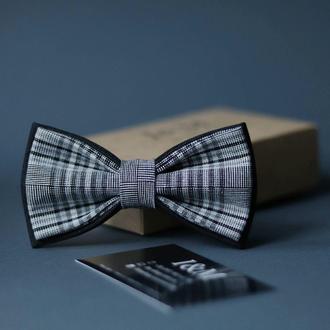 Галстук-бабочка I&M Craft черный в клетку (010430)