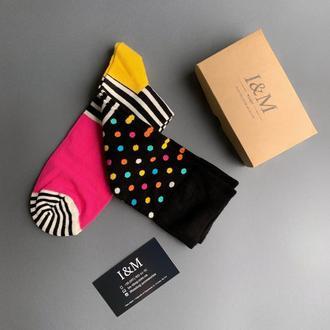 Носки I&M Craft цветные в горох (070278)