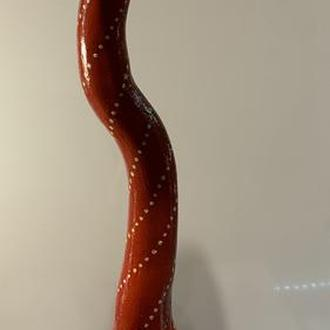 Ваза из тыквы декоративная с шариком