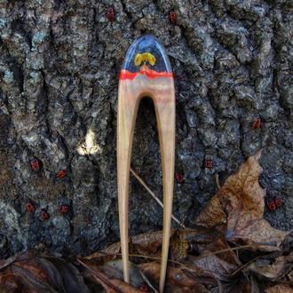 Заколка з дерева