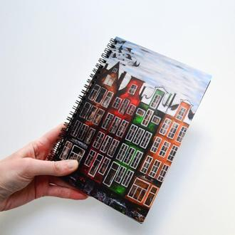 """блокнот """"Амстердам"""". Желтые страницы. Оригинальный подарок"""
