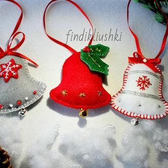 """Подарочный набор елочных игрушек """"Рождественские колокольчики"""""""