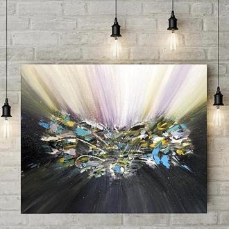 Картина маслом «Сияние камня». Абстракция 40^50см