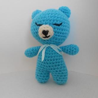 В'язана іграшка-Ведмедик сплюшка