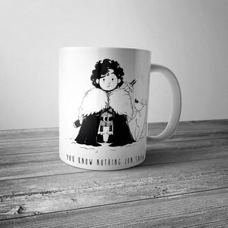 """Чашка с принтом """"Джон Сноу"""""""