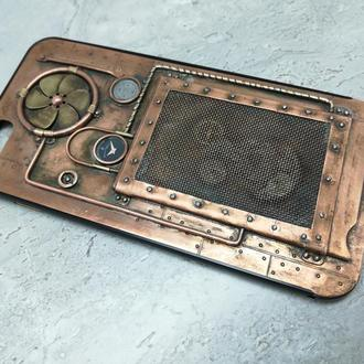 Уникальный чехол айфон 6 s. Авторская хенд мейд работа в стиле стимпанка.