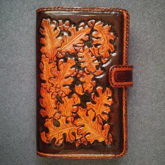 """Жіночий шкіряний гаманець """"Дубове листя"""""""