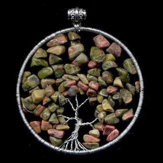 Дерево жизни  унакитовая яшма