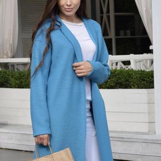 Дизайнерское шерстяное пальто