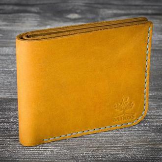 Желтый кожаный мужской кошелек
