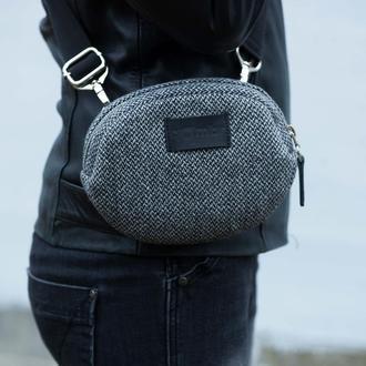Універсальна жіноча сумочка Black&White Tweed