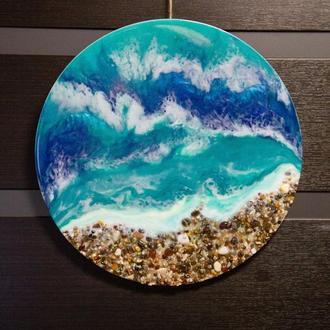 Интерьерная картина resinart, картина море resinart, картина океан resinart