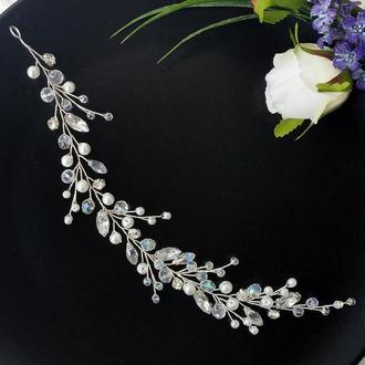 Свадебное украшение для волос. Веточка в прическу