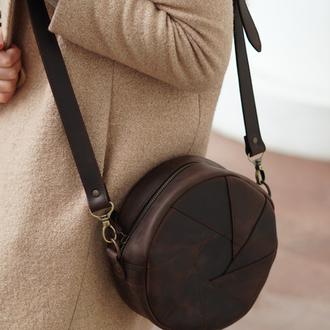 Женская сумочка, маленькая сумочка, сумочка через плечо, кожаная сумочка круглой формы для девушки