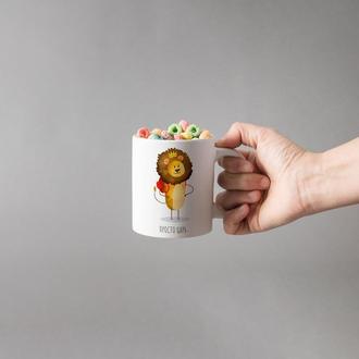 """Чашка с принтом """"Просто царь"""""""