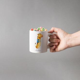 """Чашка с принтом """"Милый жираф"""""""