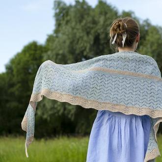 Вязаная шаль. Шарф-платок. Шарф