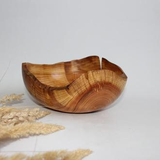 Миска для фруктів з дерева, декоративна ваза, оригінальний подарунок