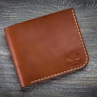 Мужской кожаный коричневый кошелек