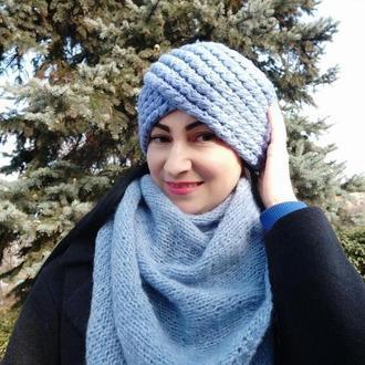 Вязаная шапка чалма Амира