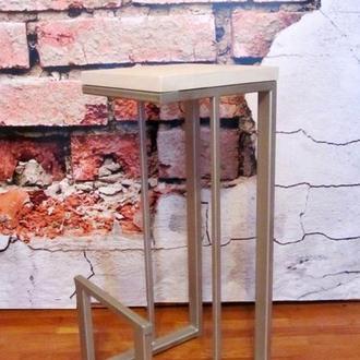 Барный стул лофт loft серебристая рама
