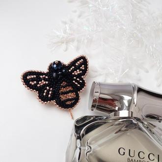 Брошь унисекс, мужская брошь «пчела Gucci»