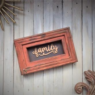 """Рамка декоративная """"Family"""""""