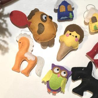 Фетровые игрушк
