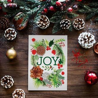 """Новогодняя открытка """"Joy"""""""