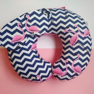 Подушка для путешествий - фламинго Киев, дорожная подушка - фламинго, подушка для шеи - фламинго