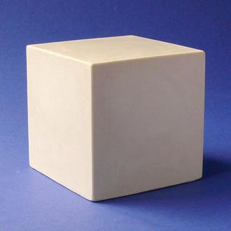 Гипсовая фигура Alizarin Куб для рисунка в классе ИЗО 7х7см (g01002)