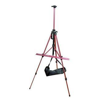 Мольберт-тренога алюминиевая с сумкой, темно-красная, 138х85х158 см, высота полотна 83 см